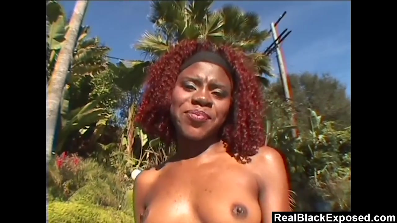 Ebony Takes Big White Cock