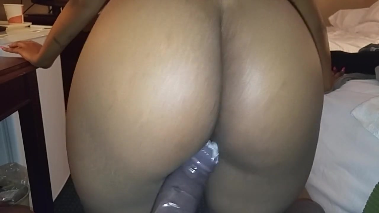 Ebony Gagging White Dick