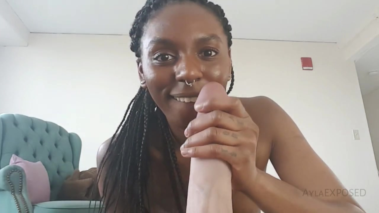 Dirty Talk Ebony Blowjob